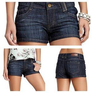 EUC Jolt denim dark washed shorts sz 3